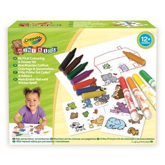 Crayola Mon 1er Coffret De Coloriage Et De Gommettes Kit Loisir Creatif Achat Prix Fnac