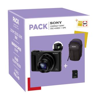 Fnac Pack Sony DSC-HX90V Compact Camera + Hoes + SD-kaart 8GB