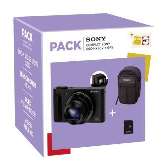 Fnac Pack Sony Cybershot DSC-HX90V Compacte Camera met GPS + Opberghoes + 8GB SD-kaart