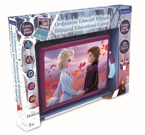 Ordinateur éducatif Lexibook Bilingue avec 124 activités Disney Frozen La Reine des Neiges 2