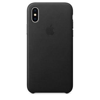 Coque en cuir Apple Noire pour iPhone X