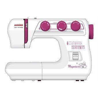 Machine à coudre Janome Magenta 43 85 W Blanc et Rose
