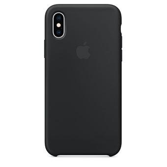 Coque en silicone Apple Noir pour iPhone XS