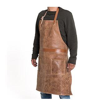 Tablier Professionnel Solide Barbecook En Cuir Brun Accessoire