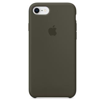 Coque en silicone Apple Olive Sombre pour iPhone 8 et iPhone 7