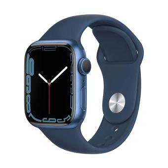 Apple Watch Series 7 GPS - 41mm - Boîtier Blue Aluminium - Bracelet Abyss Blue Sport