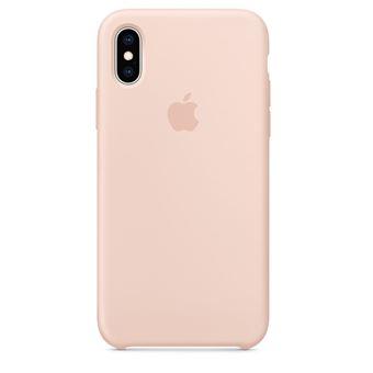 Coque en silicone Apple Rose des sables pour iPhone XS