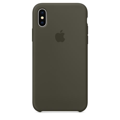 Coque en silicone Apple Olive Sombre pour iPhone X