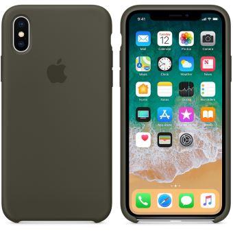 coque iphone x vert foncé