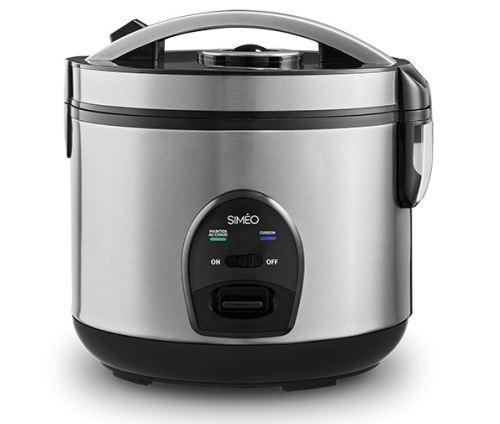 Cuiseur à riz automatique Simeo CRM230 500 W Noir et Argent