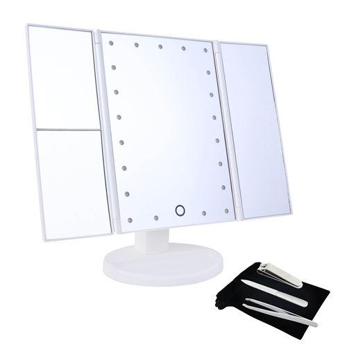 Set miroir LED Okoia Triple 5X et kit manucure