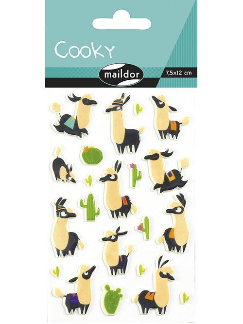 Planche à stickers Maildor Cooky Lamas