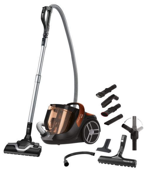 Aspirateur sans sac Rowenta Silence Force Cyclonic RO7274EA 550 W Gris et Orange