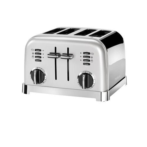 Grille pain Cuisinart 4 tranches 1800 W Gris
