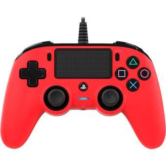 Manette filaire Nacon Rouge pour PS4