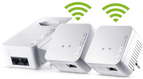 Kit de 3 adaptateurs Devolo CPL 550 WiFi Network - CPL. Remise permanente de 5% pour les adhérents. Commandez vos produits high-tech au meilleur prix en ligne et retirez-les en magasin.