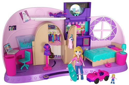 Playset Polly Pocket La chambre métamorphose