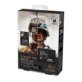 Disque dur externe gaming Western Digital WD Black P10 Edition Call of Duty 2 To Noir