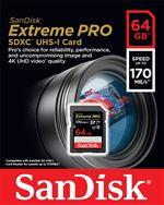Carte mémoire SDXC SanDisk Extreme PRO UHS-I V30 64 Go