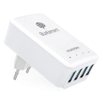 Chargeur secteur Bluestork LED 4 Ports USB