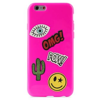 PURO PATCH MANIA COVER IPHONE 6/6S SHOCK PINK