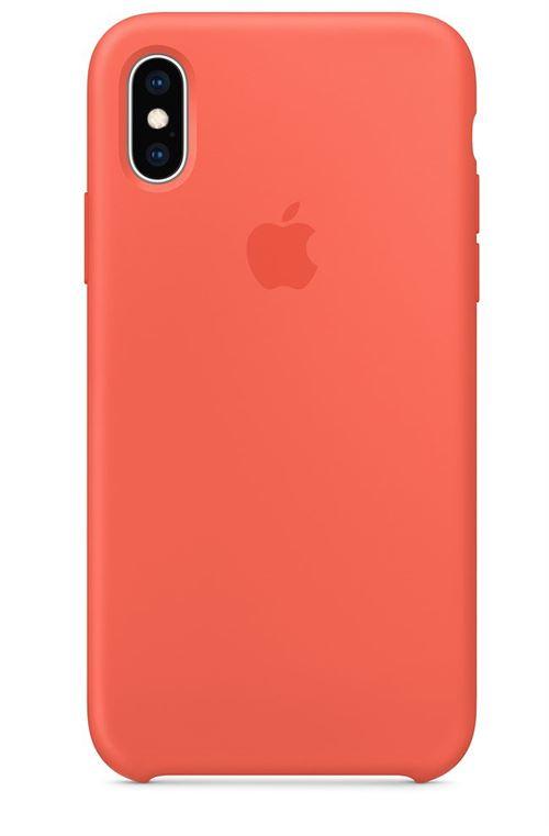 Coque en silicone Apple Nectarine pour iPhone XS