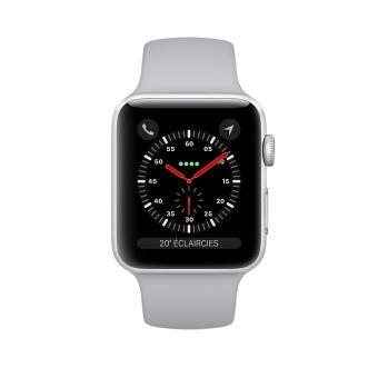 4290e9e1d83ab6 Apple Watch Series 3 Cellular 38 mm Boîtier en Aluminium Argent avec Bracelet  Sport Nuage - Montre connectée - Achat   prix   fnac
