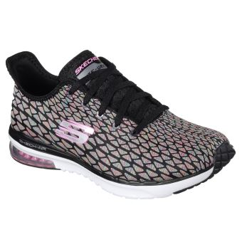 Chaussures Femme Skechers Skech Air Infinity Free Fallin Noires et Roses Taille 37
