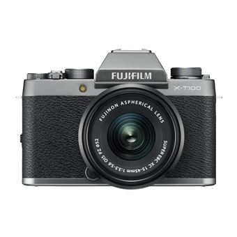 Fuji X-T100 Hybride Camera Dark Silver + Lens XC 15-45mm