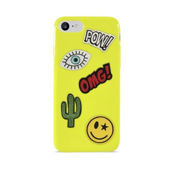 PURO COVER PATCH MANIA IPHONE 7 LIME GREEN