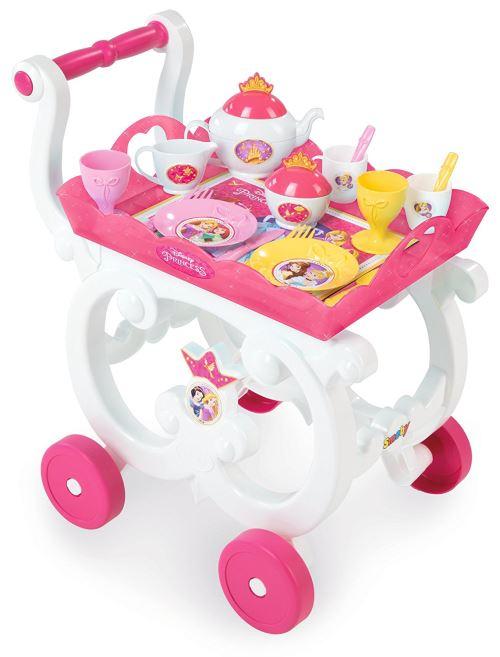 Desserte XL Disney Princesses Smoby + Chariot + 17 Accessoires