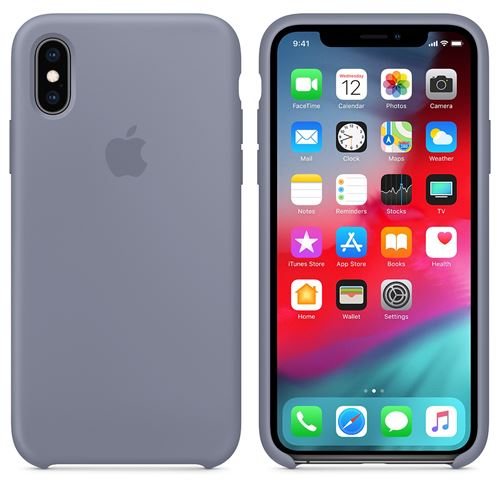 coque iphone xs apple gris lavande
