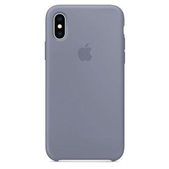 Coque en silicone Apple Gris lavande pour iPhone XS