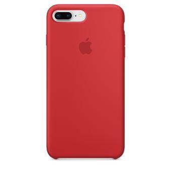 Coque en silicone Apple Rouge pour iPhone 8 Plus et iPhone 7 Plus