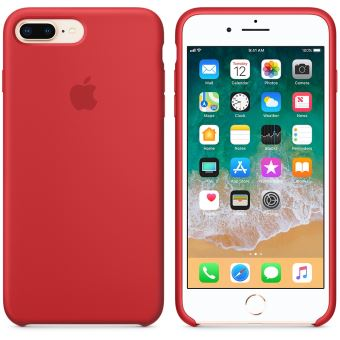coque silicone iphone 7 plus rouge