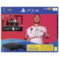 Console de jeux Sony PS4 Slim 1 To Noir + Jeu Fifa 20 + Voucher PS Plus 14j