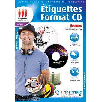 Micro Application étiquettes CD opaques
