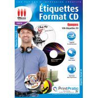 Micro Application Etiquettes Cd Opaques Papier Pour Imprimante Achat Prix Fnac