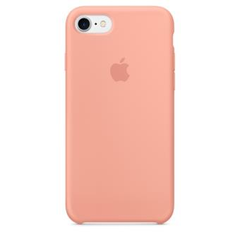 Coque Apple pour iPhone 7 en silicone Rose Flamant
