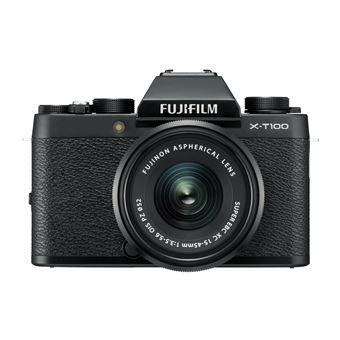 Hybride Fujifilm X-T100 Noir + Objectif XC 15-45 mm f/3.5-5.6 OIS PZ