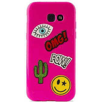 PURO PATCH MANIA COVER GALAXY A5 2017  SHOCK PINK
