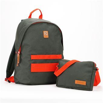 Sac à dos personnalisable et modulable Kuts Cityzen 18 L Gris et Orange