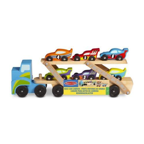 Camion géant dépliable et 6 voitures de course Melissa et Doug