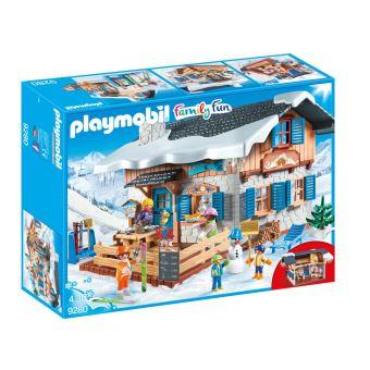Playmobil Family Fun 9280 Chalet met skiërs