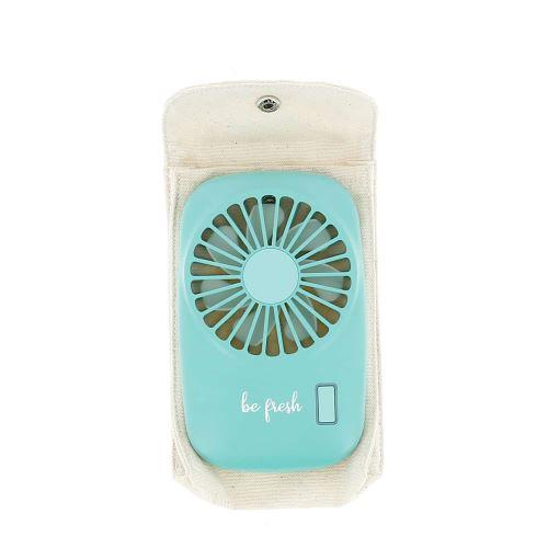 Mini ventilateur rechargeable Bleu
