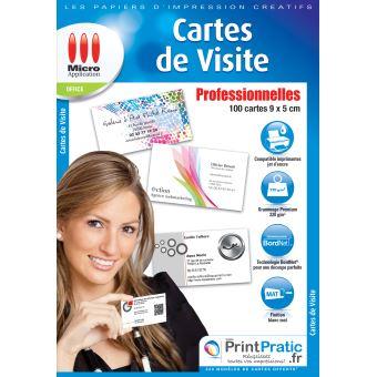 micro application carte de visite Micro Application cartes de visite professionnelles   Papier pour