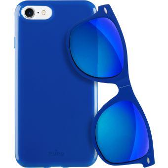 PURO BUNDLE COVER IPHONE 7 BLUE + SUNGLASSES
