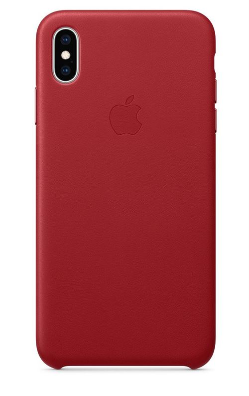 coque cuir rouge iphone xs max