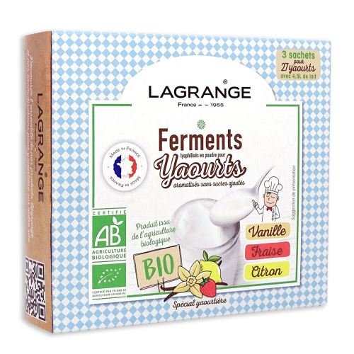 Ferments Lagrange pour yaourts aromatisés sans sucres ajoutés 385002
