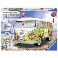 Puzzle 3D 162 pièces Ravensburger Volkswagen Combi T1 Hippie Style
